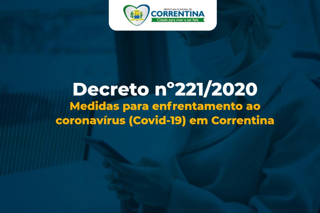 Decreto nº 221/2020 - Medidas de prevenção contra o Coronavírus